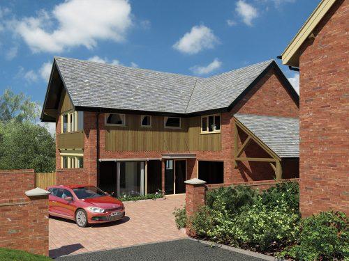 The Pines, Harmer Hill. New houses in Shropshire developed by Shingler Homes, Shropshire Developers.