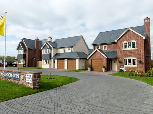New home development in Baschurch, Perry View
