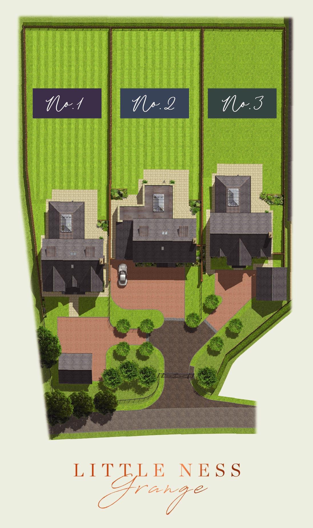 Little Ness Grange Site Plan